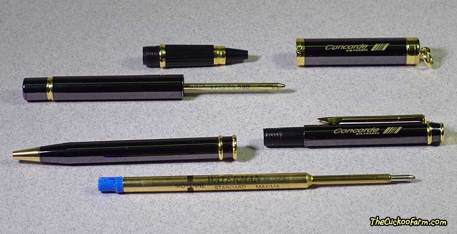 Air France Concorde Pen Set by Waterman parts detail