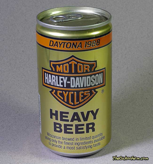 Harley-Davidson Heavy Beer beer can from the 1988 Daytona Week front side