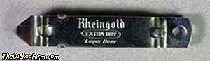 Rheingold Extra Dry Lager Beer can and bottle opener