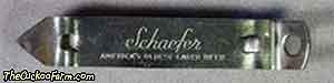 Schaefer Beer can and bottle opener