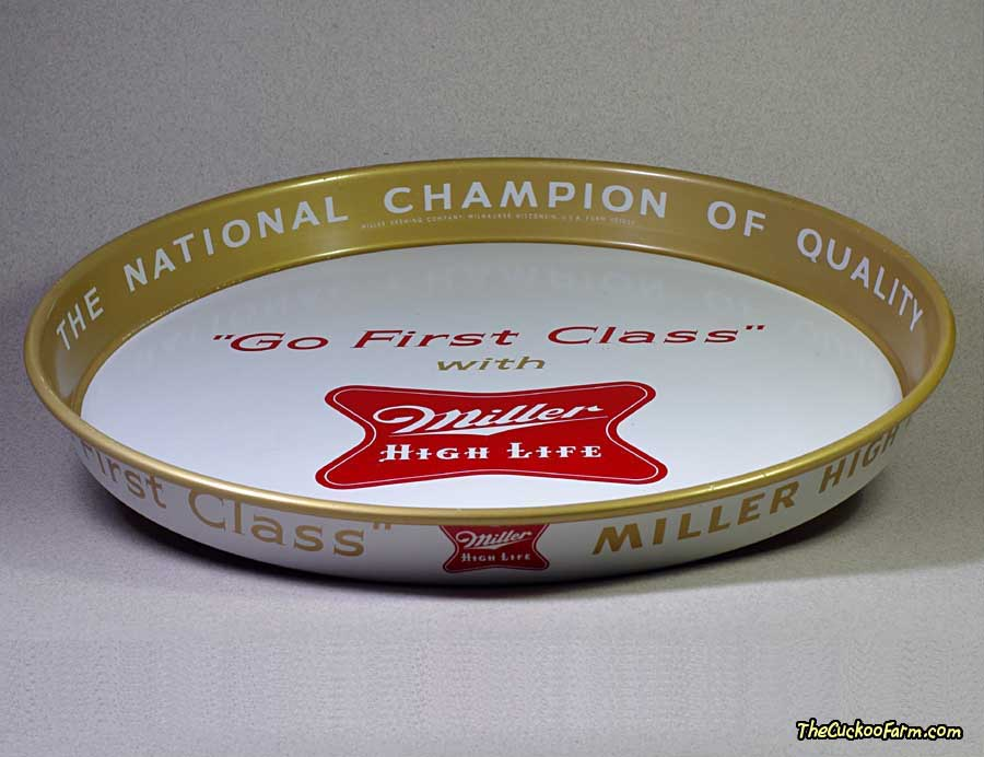 Miller High Life Beer Tray front bottom