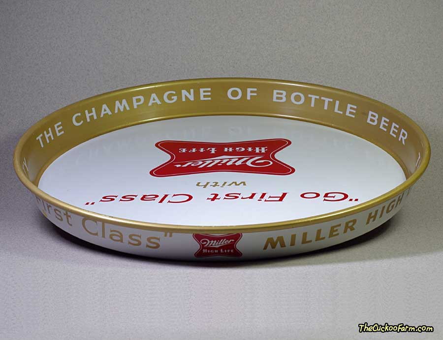 Miller High Life Beer Tray front top