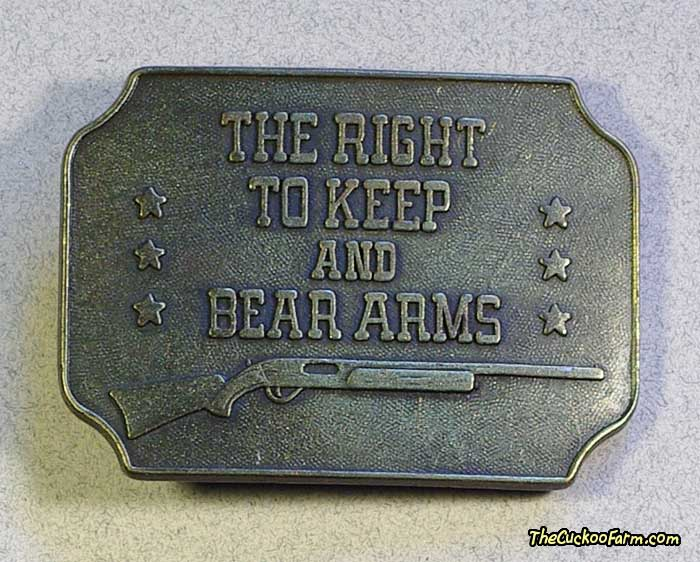 The Right To Keep and Bear Arms Belt Buckle