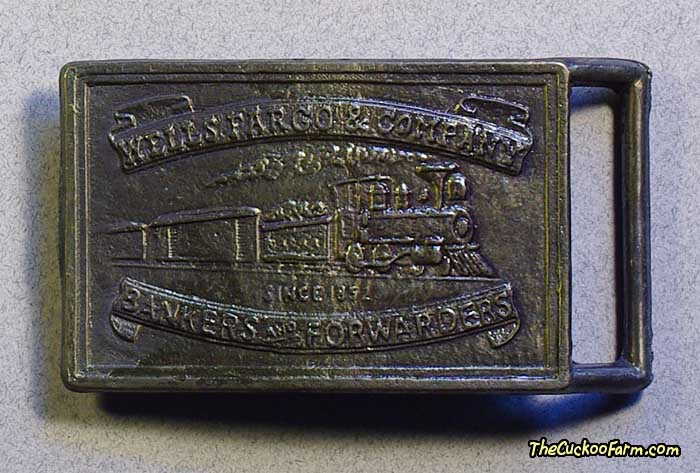 Wells Fargo Belt Buckle