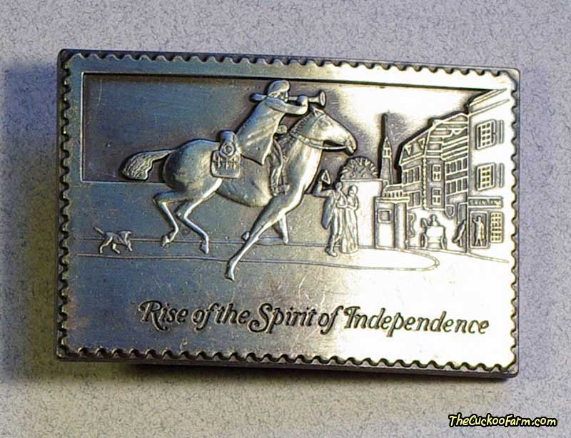 Paul Revere Stamp Belt Buckle