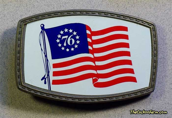Bicentennial Flag belt buckle
