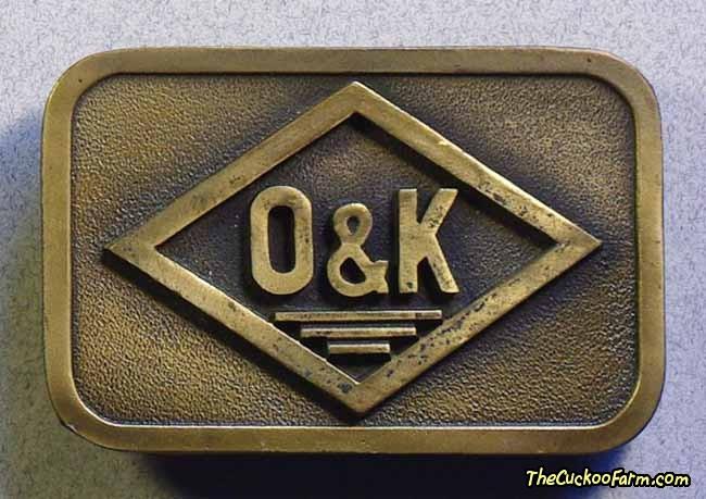O & K Belt Buckle