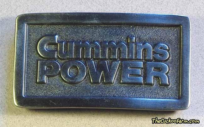 Cummins Power belt buckle