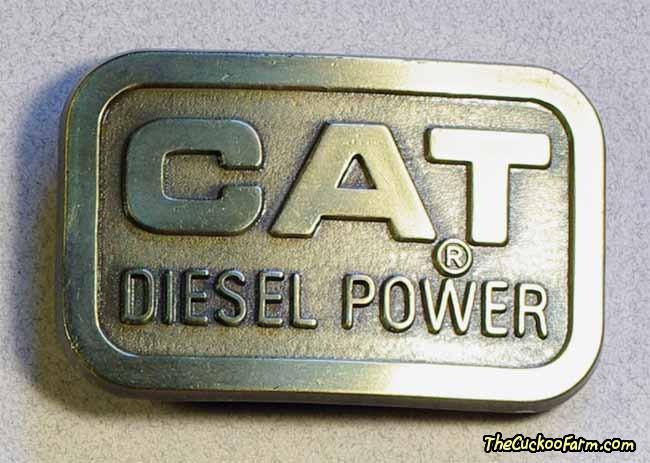 Cat Diesel Power belt buckle