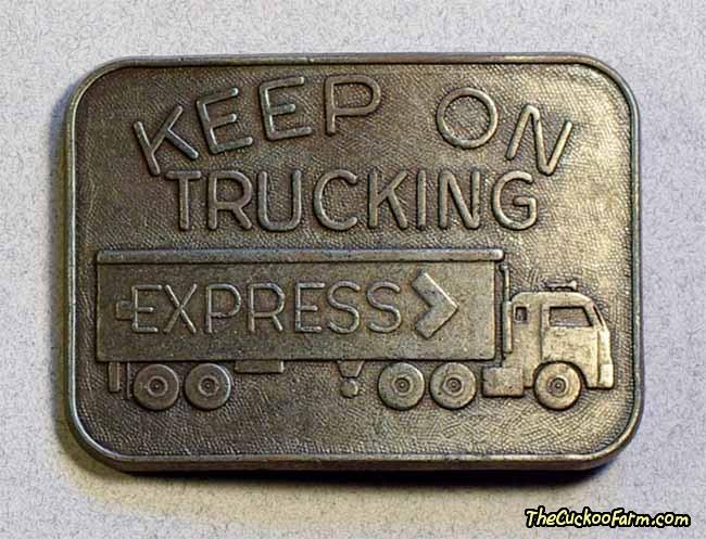 Keep on Trucking Belt Buckle