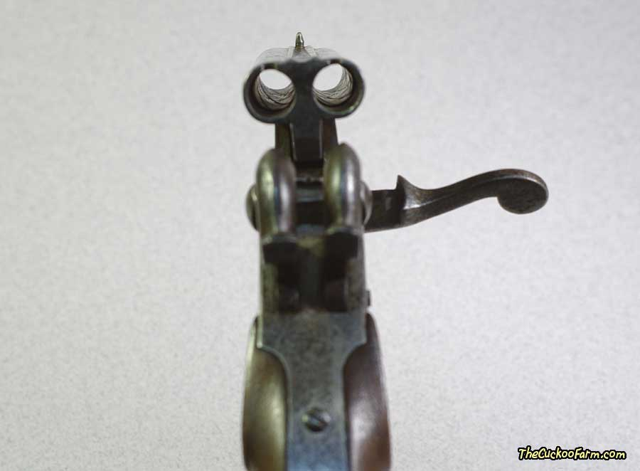 German Double Barrel Pinfire Pistol rifling