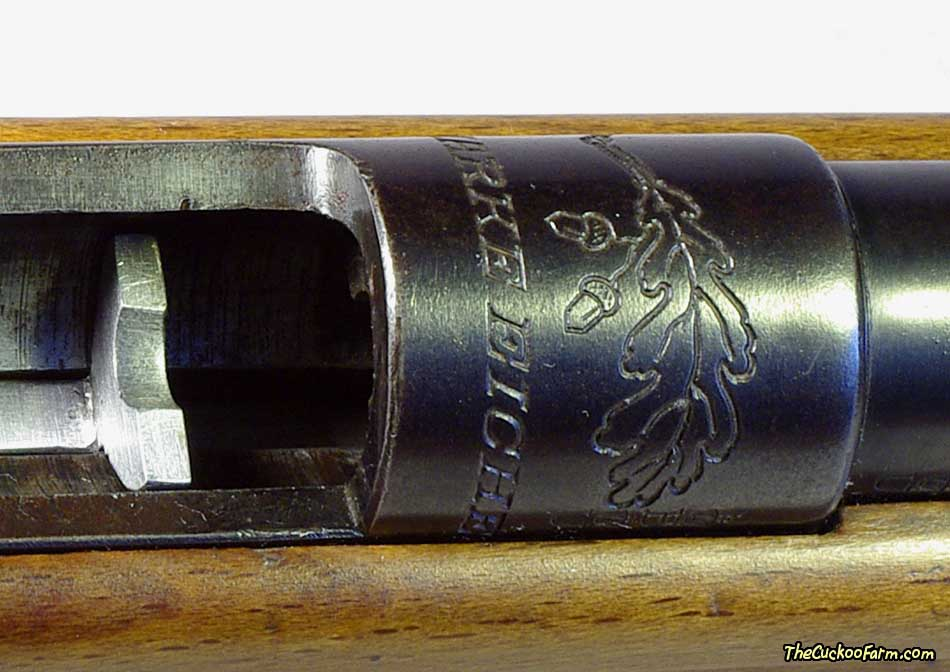Marke Eiche Model 101 rifle in caliber 6mm Flobert name and logo stamping