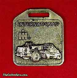 International Harvester scraper watch fob