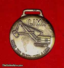 Lima cable operated shovel - Shovel Crane Supply Co. watch fob