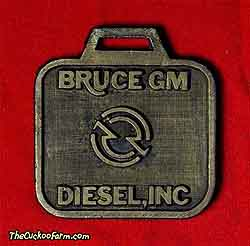 Bruce GM Diesel, Inc. watch fob