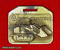 Allis-Chalmers tracked loader - Ace Equipment Co. watch fob