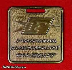 Furnival Machinery Company logo watch fob