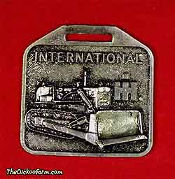 International Harvester tracked dozer watch fob