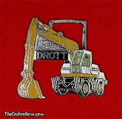 Drott wheeled excavator watch fob