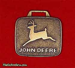 John Deere logo watch fob