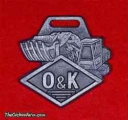 O & K tracked shovel watch fob