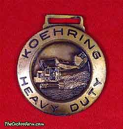 Koehring tracked face shovel watch fob