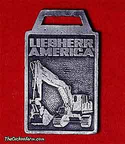 Liebherr tracked excavator watch fob