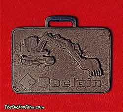 Poclain tracked excavator - American Poclain Corp. watch fob