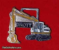 Drott tracked excavator watch fob