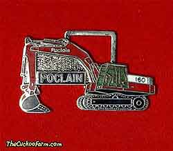Poclain 160 tracked excavator - Case Power & Equipment watch fob