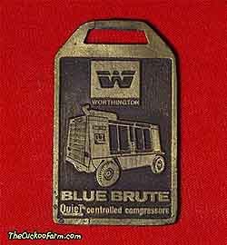 Worthington Blue Brute air compressor watch fob