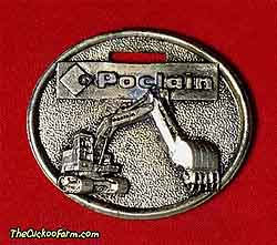 American Poclain tracked excavator watch fob