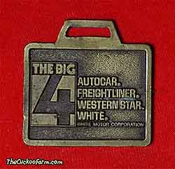 Autocar, Freightliner, Western Star and White trucks watch fob