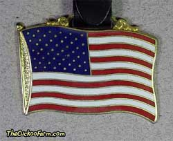 Flag with Pledge of Allegiance watch fob