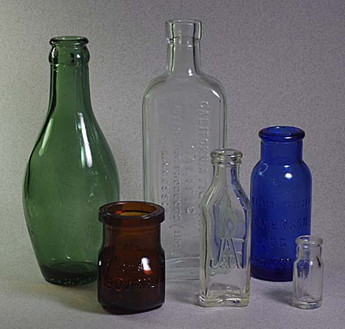 Of vintage glass that can