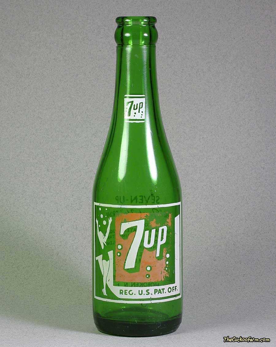 Old 7up Bottle front