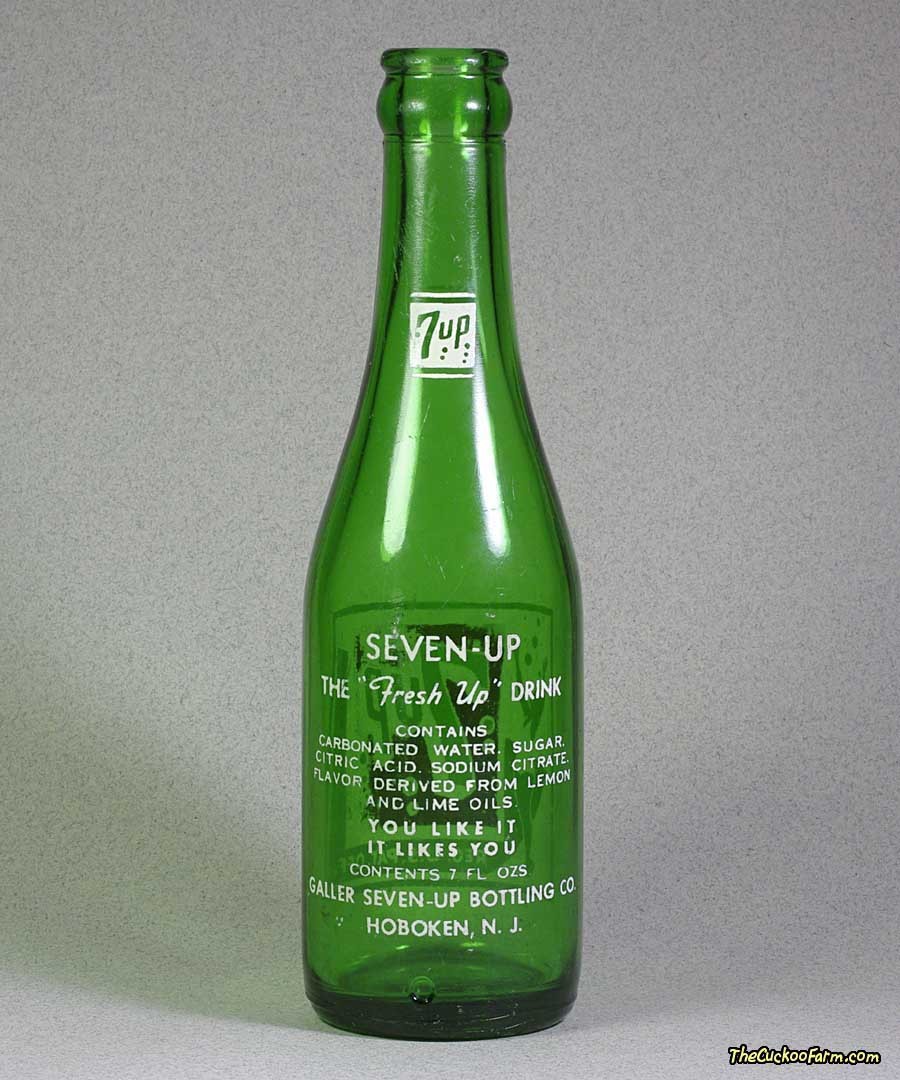 Old 7up Bottle back