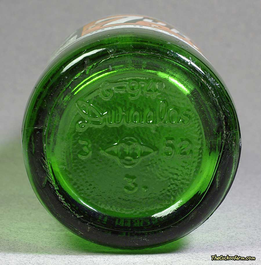 Old 7up Duraglas Bottle Bottom