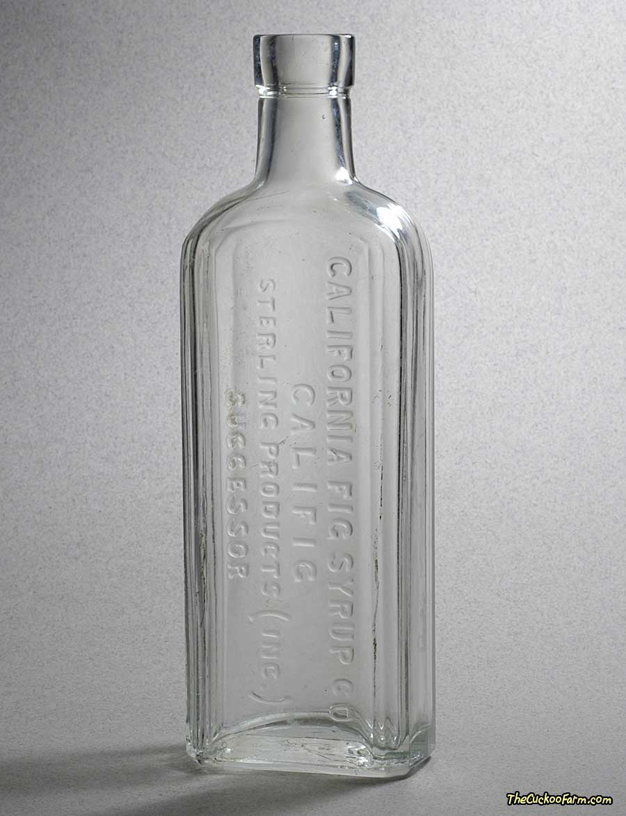 Old clear California Fig Syrup Co. Califig Bottle front