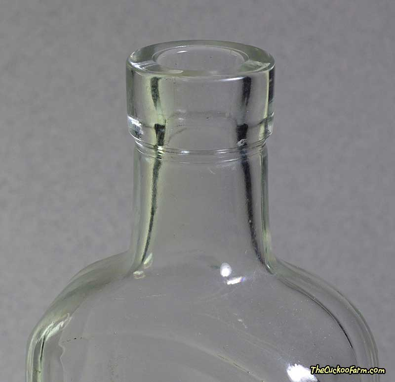 Old clear California Fig Syrup Co. Califig Bottle top
