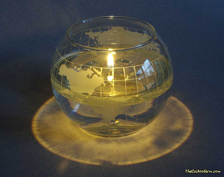 Nescafe World Globe Oil and water candle