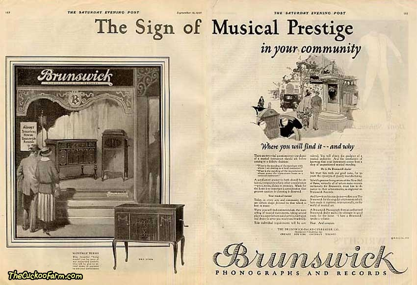 Brunswick York Model Phonograph Ad