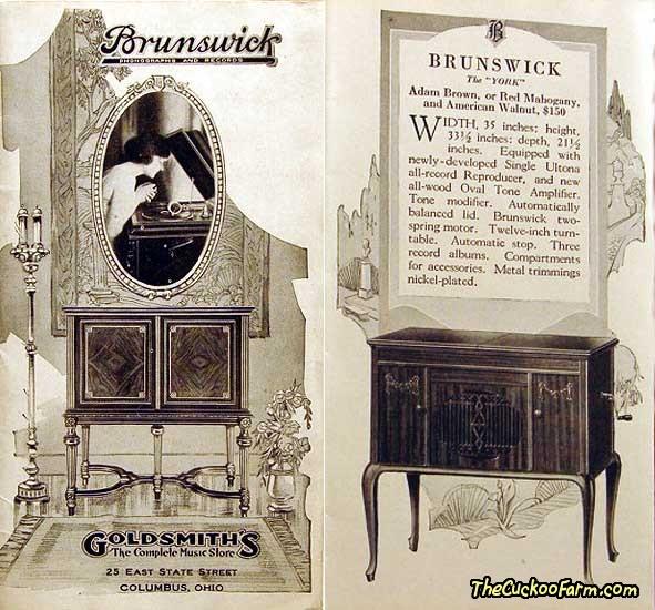 Brunswick York Model Phonograph Brochure