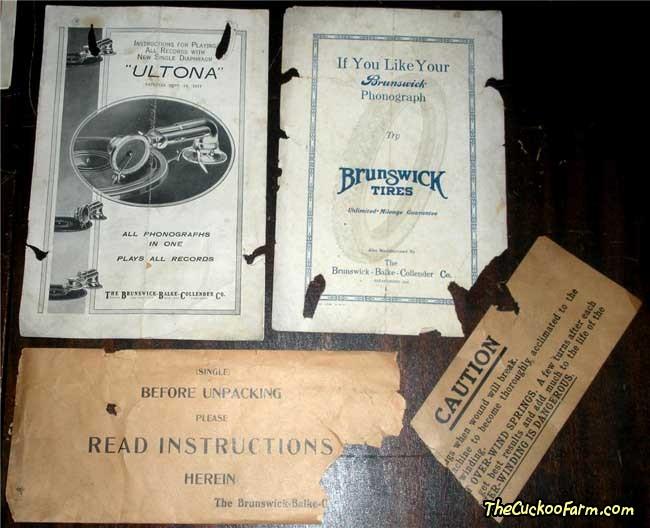 Brunswick York Model Phonograph Papers