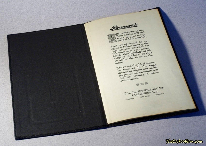 Brunswick Phonograph Record Index