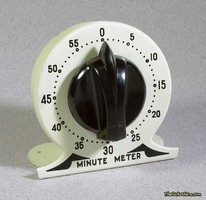 Lux Minute Meter Kitchen Timer Front