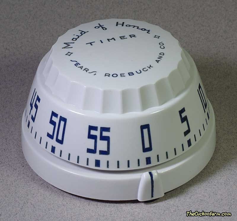 Sears, Roebuck and Co., Maid of Honor 1 Hour Long Ring Timer Model No. 4663