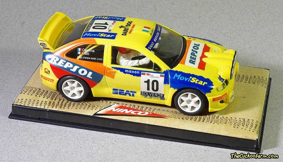 1999 Seat Cordoba WRC Rally Car - slot car.