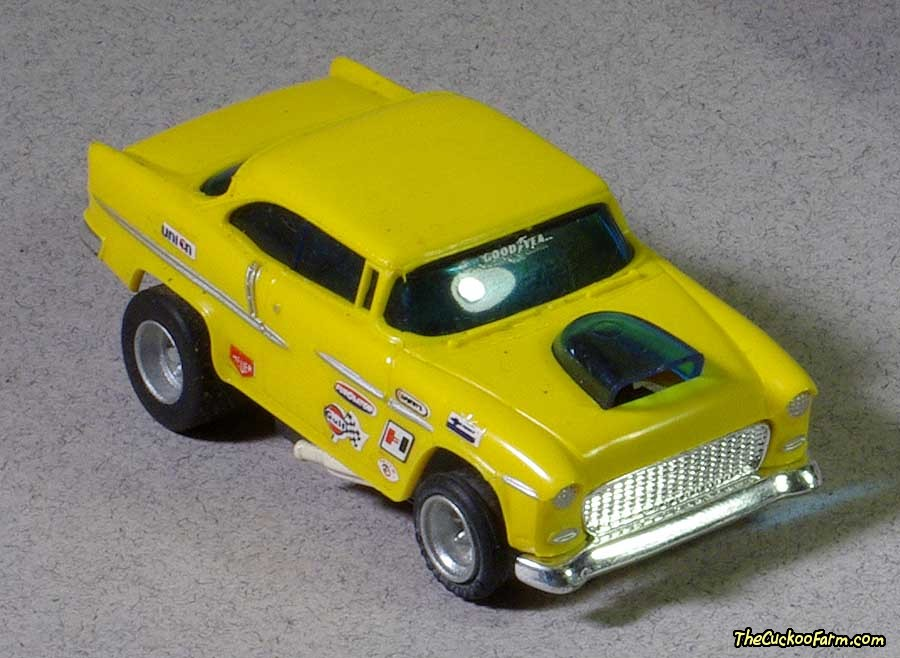 55 Chevy slot car.