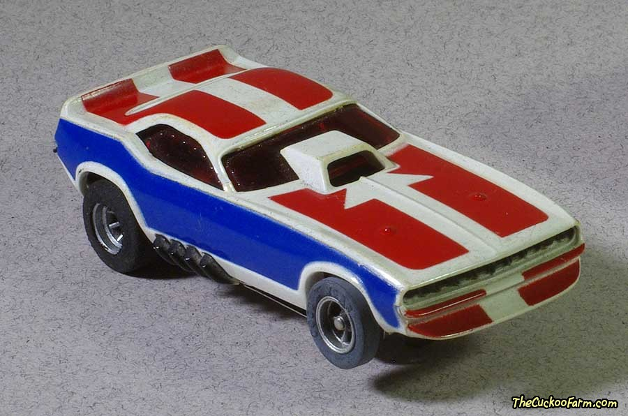 Plymouth Cuda slot car.